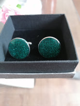 Load image into Gallery viewer, Handmade Glitter Cufflinks
