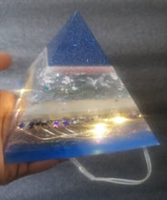 Load image into Gallery viewer, Blue Star Light-Up Pyramid
