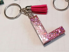 Load image into Gallery viewer, Personalised Resin Initial Key Chains