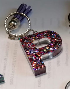 Personalised Resin Initial Key Chains