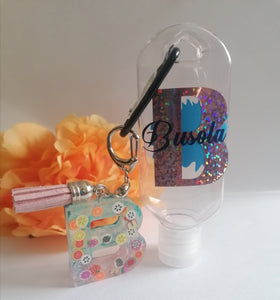 Personalised hand sanitiser with Resin lnitial