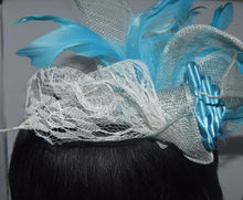 Load image into Gallery viewer, Blue Wedding Fascinator