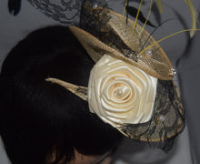 Load image into Gallery viewer, Ivory Fascinator