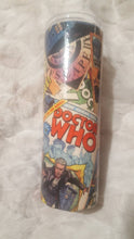 Load image into Gallery viewer, Dr Who Fabric 20oz Tumbler