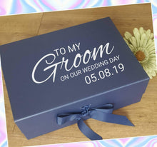 Load image into Gallery viewer, Personalised groom gift box