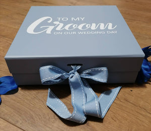 Grooms Wedding Day Gift Box