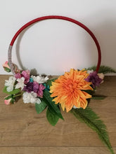 Load image into Gallery viewer, Sunflower Greenery Bouquet Hoop
