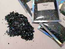 Load image into Gallery viewer, Midnight holographic glitter mix