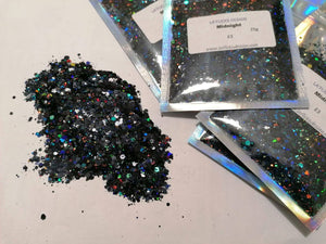 Midnight holographic glitter mix