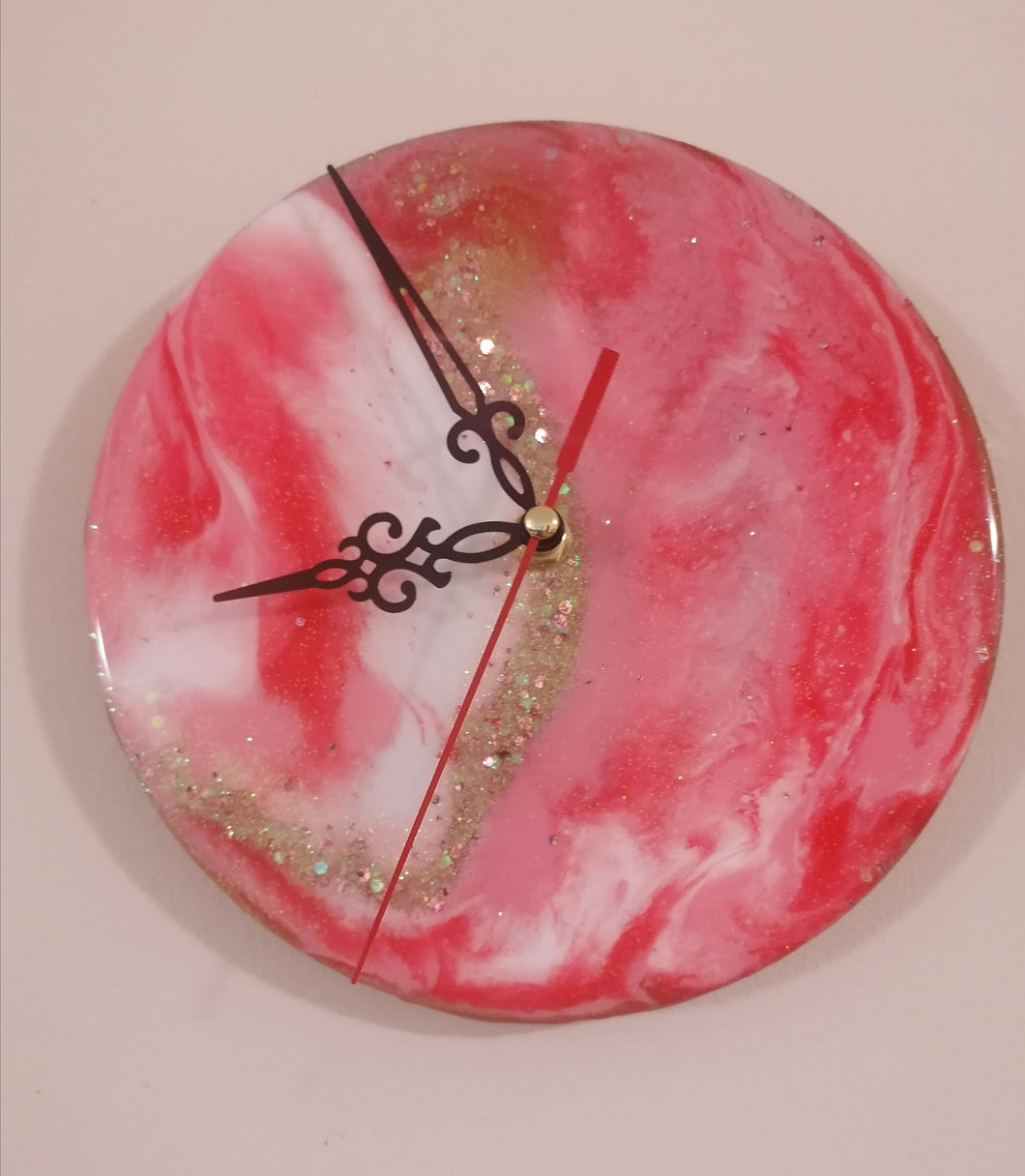Red Resin Clock