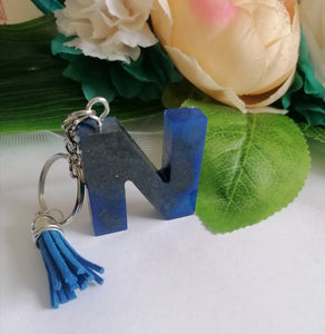 Personalised Letter N keyring - Glitter keychain - stocking filler - Custom order welcome