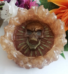 Skull decorative dish