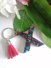 Load image into Gallery viewer, Personalised Letter X keyring