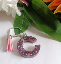 Load image into Gallery viewer, Personalised Letter C keyring