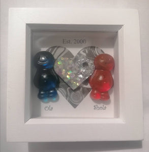 Personalised Jelly Baby Couples Art