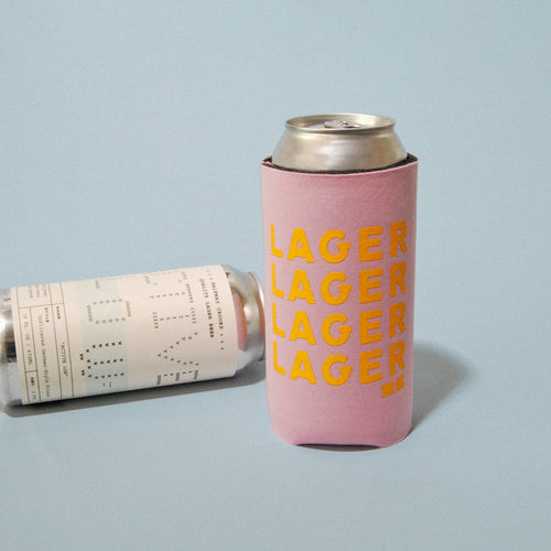 LAGER Koozie (Pink or Blue)