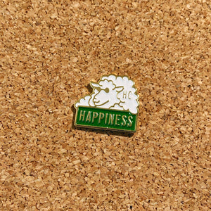 happiness sheep enamel pin