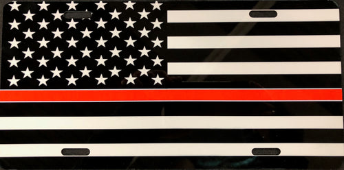 License Plate, Thin Red Line