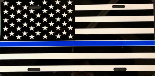 License Plate, Thin Blue Line