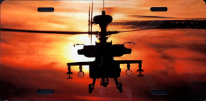 License Plate, Army / Apache Helicopter