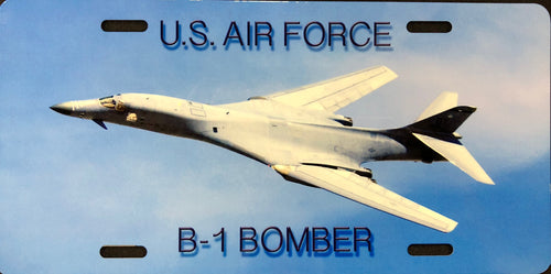 License Plate, Air Force B-1 Bomber