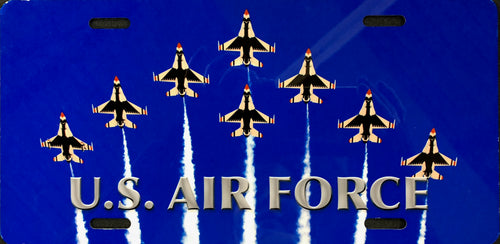 License Plate, Air Force Jet Formation