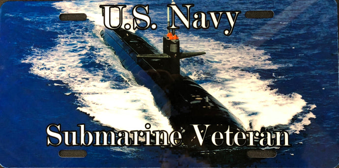 License Plate, Navy Sub Veteran / Submarine