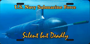 License Plate, Navy Sub / Silent But Deadly