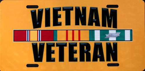 License Plate, Vietnam Veteran