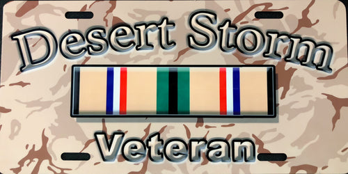 License Plate, Desert Storm Veteran