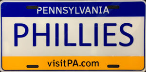 License Plate, PA Plate / Phillies