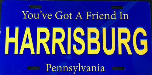 License Plate, Vintage-Style PA Plate, Got A Friend In Harrisburg