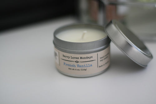 Soy Candle, Exotic scent with a musky base and earthy notes of cedar, powder, and ozone.