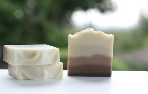 Handmade soap, Cedarwood, an earthy and evocative scent reminiscent of Canadian forests.