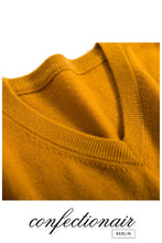Laden Sie das Bild in den Galerie-Viewer, 45% Kaschmir Pullover Herren rot Wolle Cashmere ! Confectionair Berlin