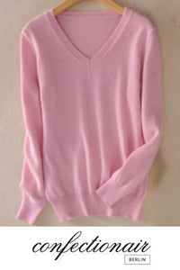 35% Kaschmir Pullover pink Wolle Damen - Confectionair Berlin