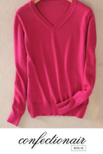 Laden Sie das Bild in den Galerie-Viewer, 35% Kaschmir Pullover pink Wolle Damen - Confectionair Berlin