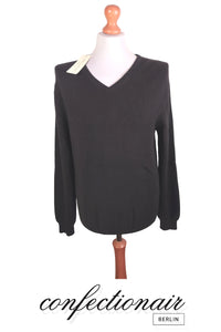 "100% Kaschmir Pullover Herren schwarz ""Made in Italy"" Cashmere - Confectionair Berlin"