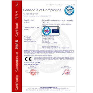 KN95 Protective Face Mask CE Certification