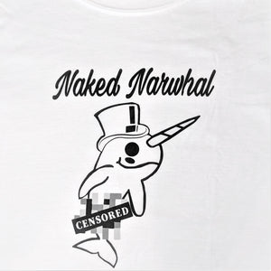 Censored narwhal T-shirt - Long sleeve