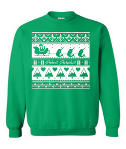Christmas Naked Narwhal Crew Neck Sweatshirt