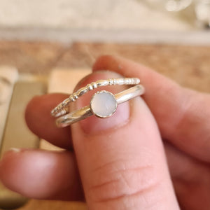 Chalcedony wave ring