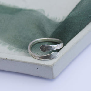 Hammered wrap ring