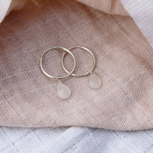 Load image into Gallery viewer, Moonstone hoop earrings