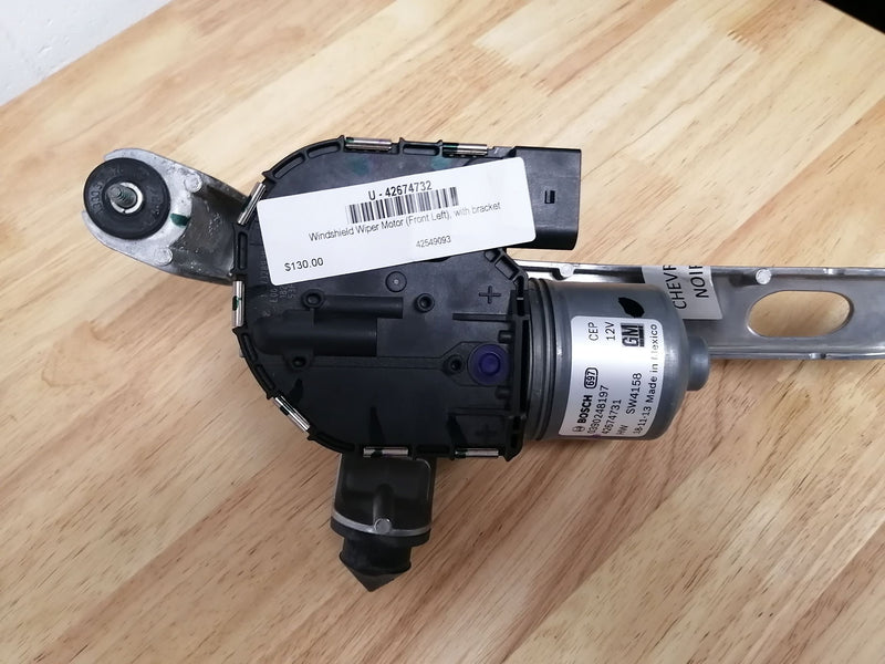 Windshield Wiper Motor (Front Left), with bracket 42674732