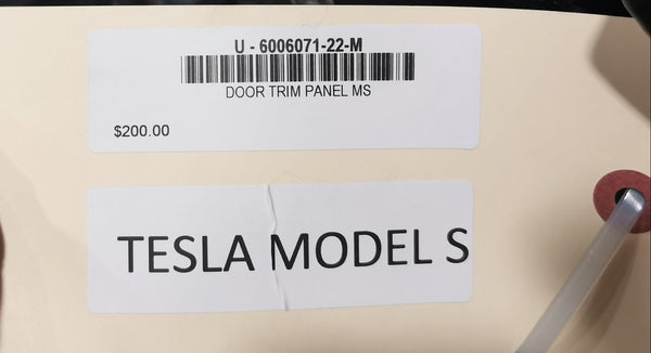 Tesla Model S DOOR TRIM PANEL MS 6006071-22-M