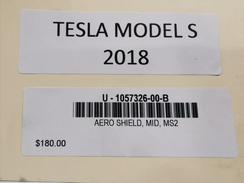 TESLA MODEL S AERO SHIELD, MID, MS2 1057326-00-B