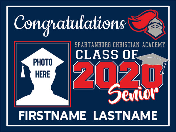 Spartanburg Christian Academy High School 2020 Graduation Yard Sign