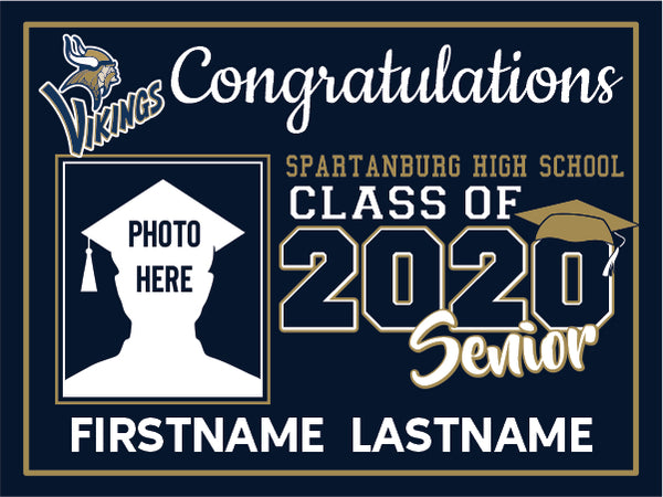 Spartanburg High School 2020 Graduation Yard Sign