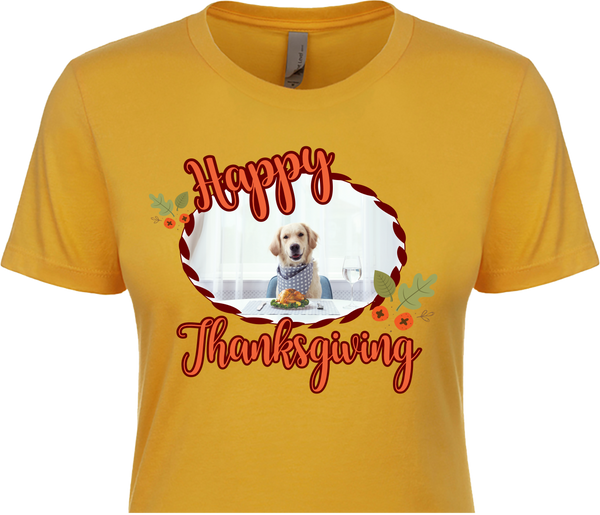 Happy Thanksgiving Customized Photo Shirt